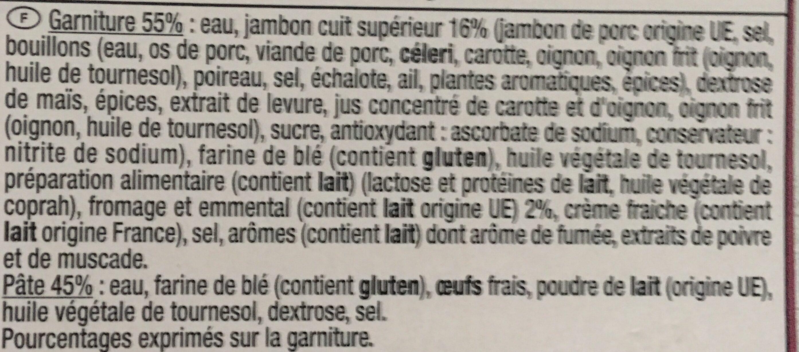 Crêpe jambon fromage x6 - Ingrédients - fr