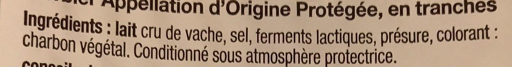 L'Oiseau - Morbier en tranchettes pour repas raclette - Ingrédients - fr