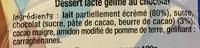 Dessert lacté gélifié au chocolat - Ingredients - fr