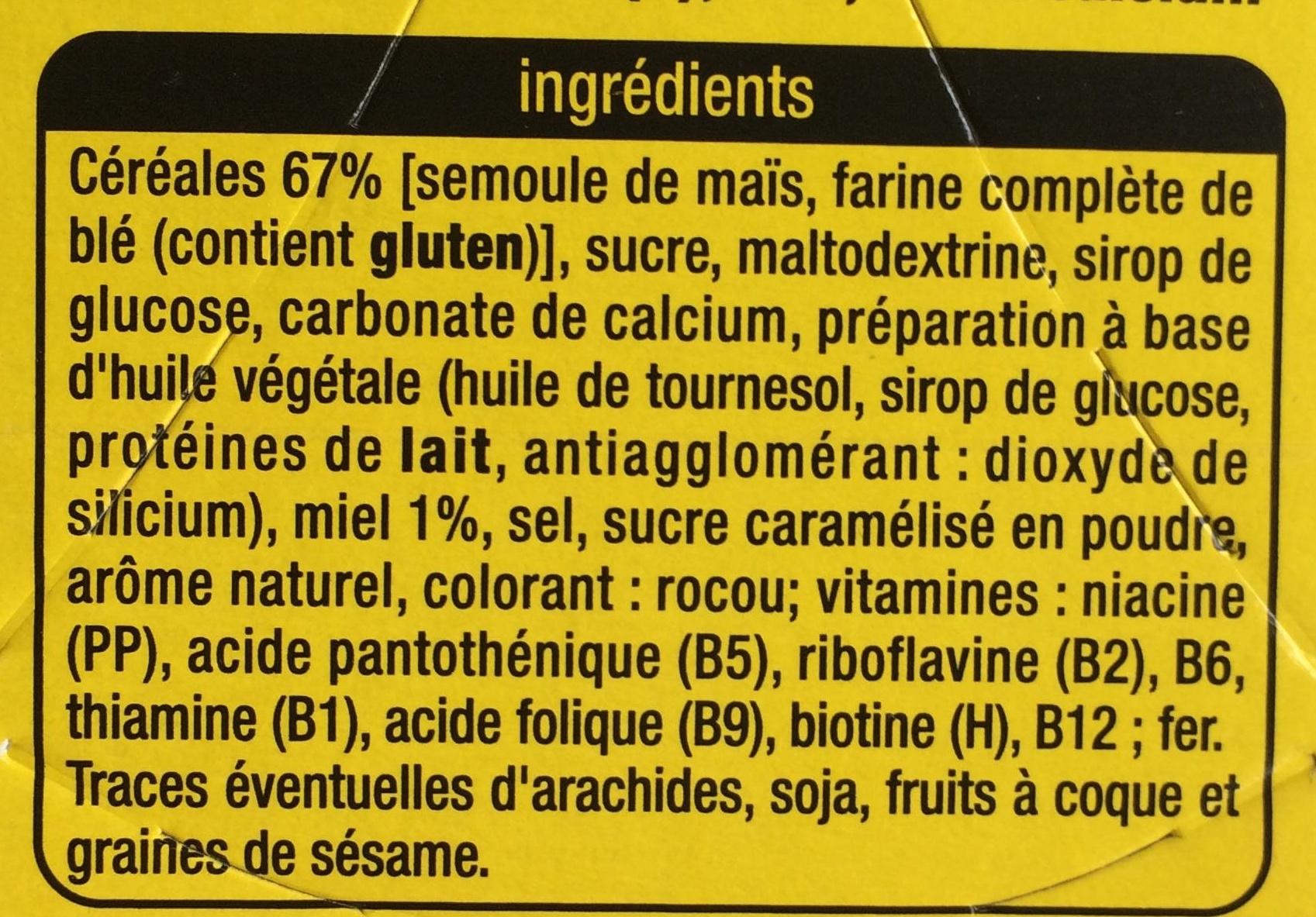 Golden Crack au miel - Ingrédients - fr