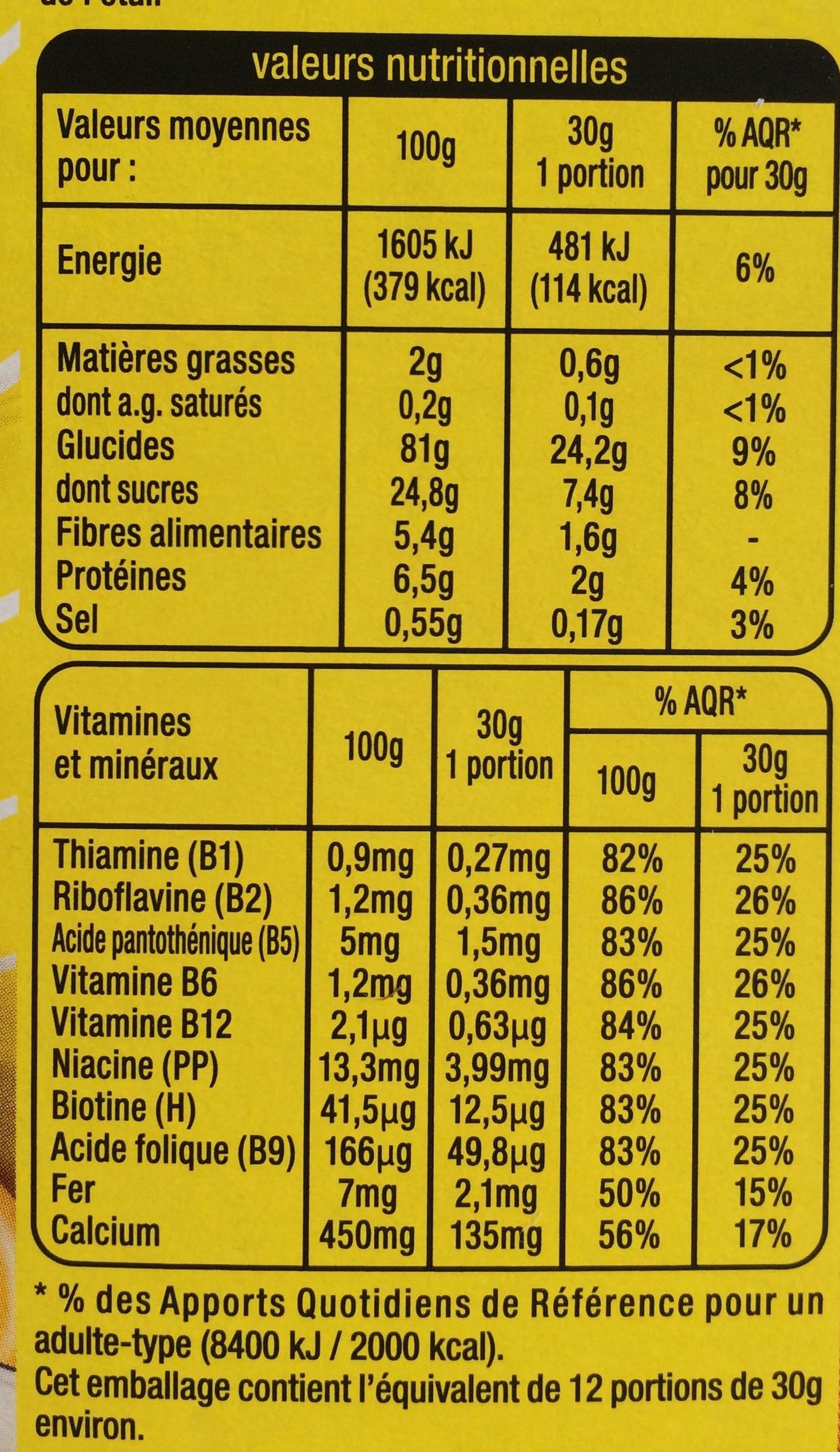 Golden Crack au miel - Informations nutritionnelles - fr