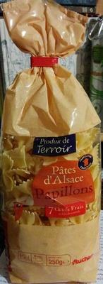 Pâtes d'Alsace Papillons (7 Œufs Frais au kilo de semoule) - Produit - fr