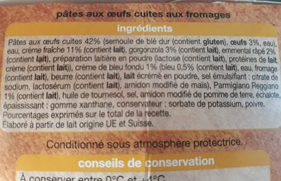 Conchiglie sauce aux fromages - Ingrédients