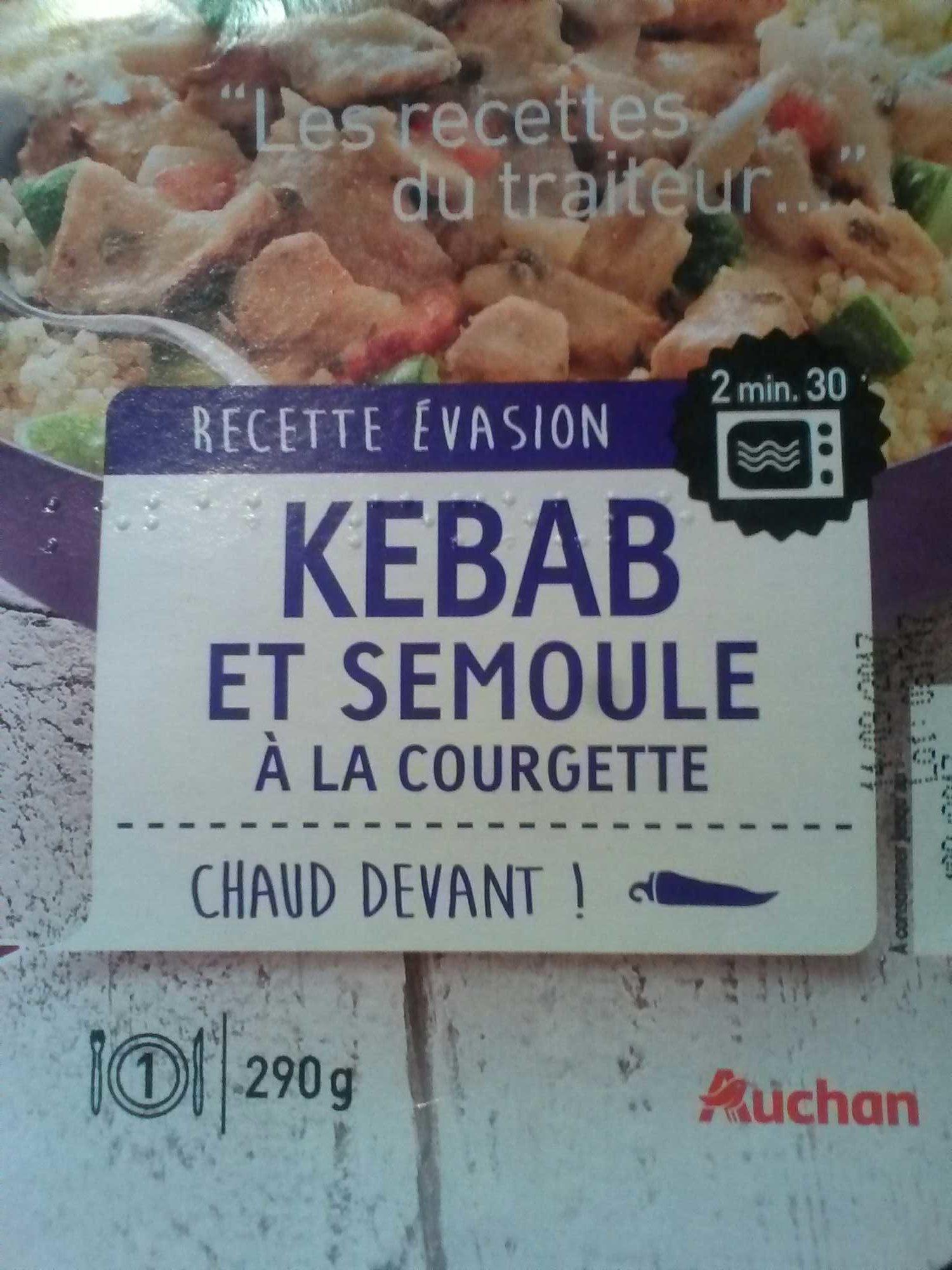 Kebab et semoule à la courgette - Produit - fr