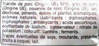 Dés de chorizo - Ingrédients - fr