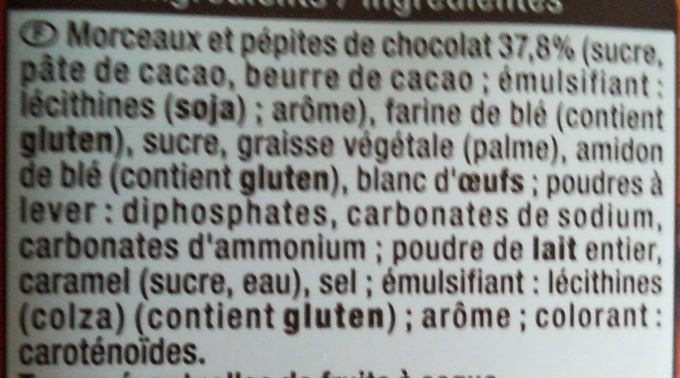 Granola Cookies Gros Éclats de Chocolat - Ingredients