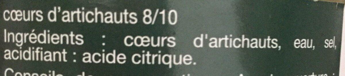 Coeurs d'artichauts - Zutaten - fr