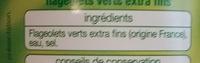 Flageolets verts extra-fins - Ingrédients - fr