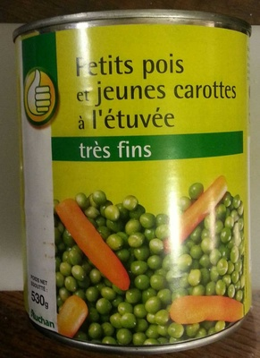 Petits pois et jeunes carottes l 39 tuv e tr s fins auchan 800 g 530 g net goutt 850 ml - Cuisiner petit pois carotte en boite ...