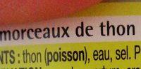 Morceaux de thon au naturel - Ingredienti - fr