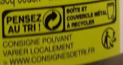 Morceaux de thon au naturel - Istruzioni per il riciclaggio e/o informazioni sull'imballaggio - fr
