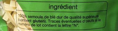 Nouilles - Ingrediënten