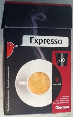 expresso capsules compatibles avec les machines de marque nespresso auchan 10. Black Bedroom Furniture Sets. Home Design Ideas