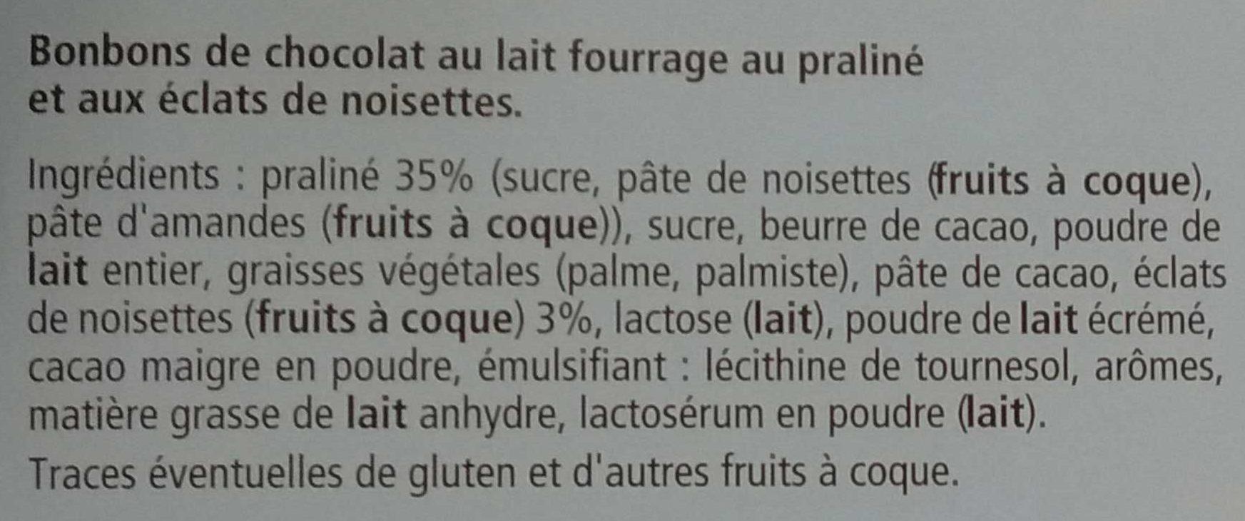 Escargots lait - Ingrédients