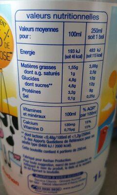Lait facile à digérer - Informations nutritionnelles - fr