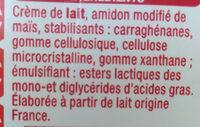 Crème Entière Semi Epaisse - Ingrédients - fr