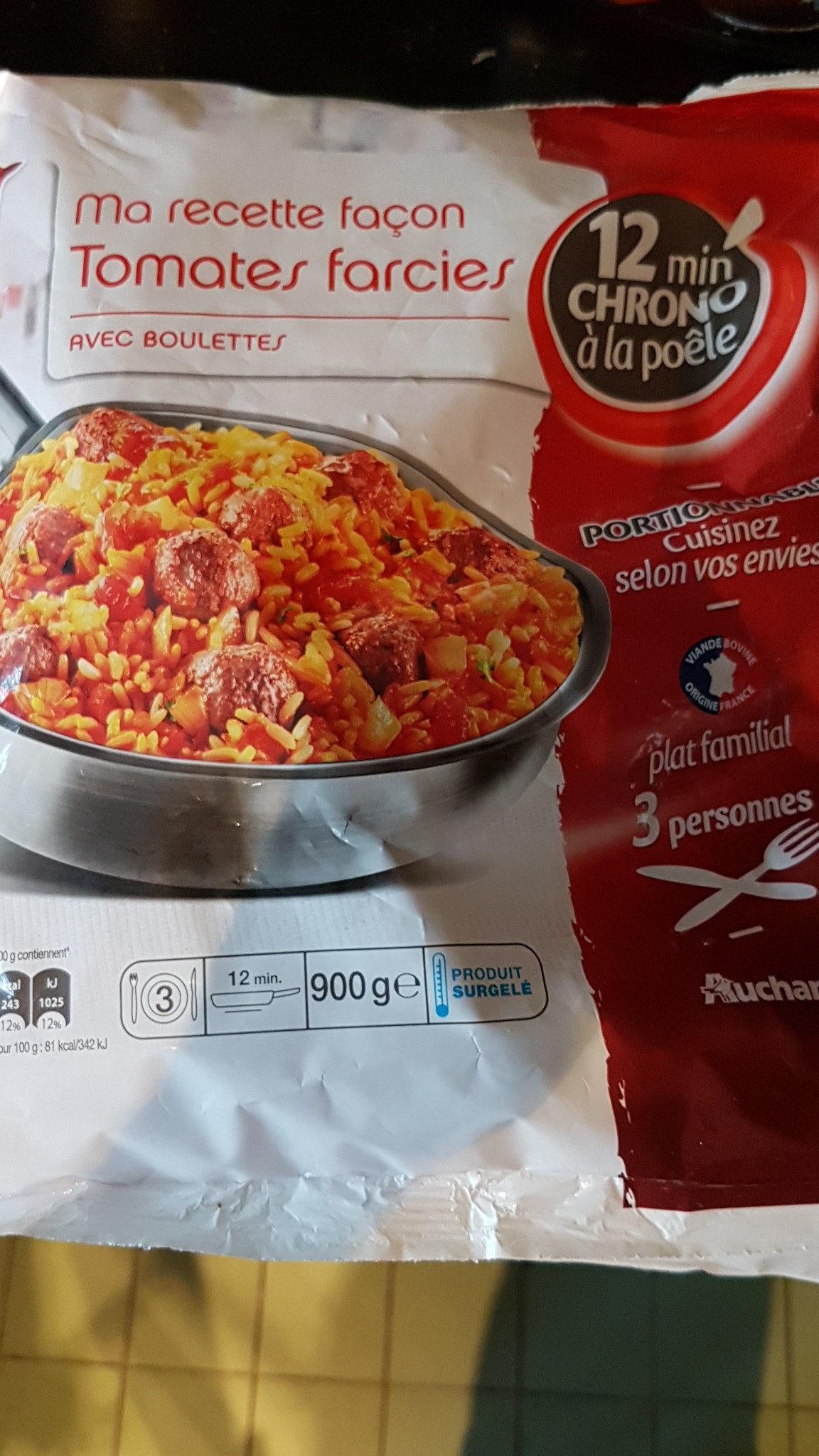 Ma Recette Façon Tomates Farcies avec Boulettes au Boeuf - Produit