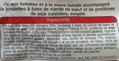 Ma Recette Façon Tomates Farcies avec Boulettes au Boeuf - Ingrédients