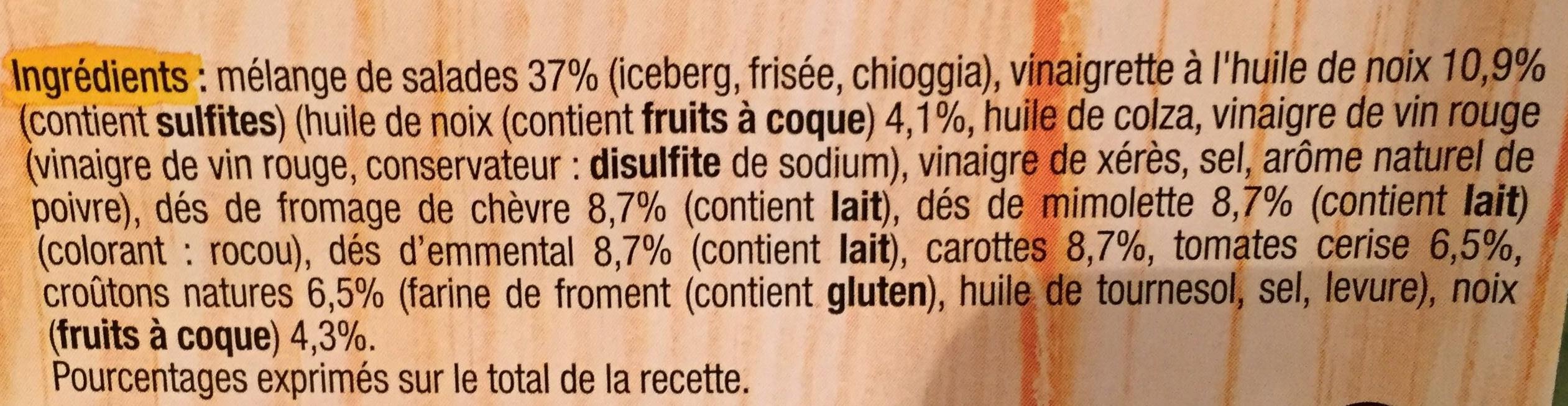 Pause snack Salade Fromagère - Ingrediënten - fr
