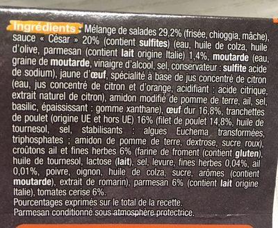 Salade Caesar Auchan - Ingrédients - fr