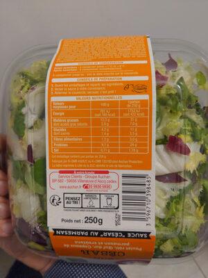 Salade Caesar Auchan - Instruction de recyclage et/ou information d'emballage - fr