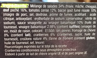 Pause Snack Salade Cévenole - Ingrédients - fr