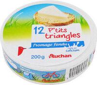 12 P'tits triangles de Fromage fondu Riche en calcium. - Produit - fr
