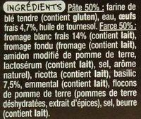 Ravioles au basilic - Ingrédients - fr