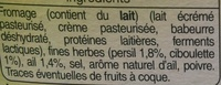 Fromage à Tartiner, Ail & Fines herbes (23,5 % MG) - Ingrédients - fr