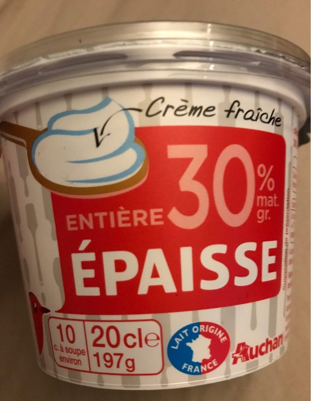 Crème Fraîche Entière épaisse (30 % MG) - Product - fr