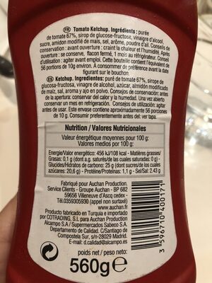Ketchup 25% tomato - Ingredienti - fr