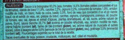 Lasagne à la bolognaise - Ingrediënten - fr