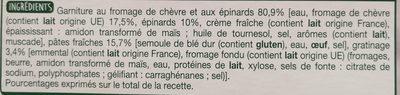 La Lasagne Chèvre Épinards - Ingrédients