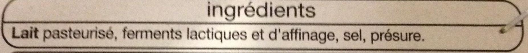 Camembert au lait pasteurisé 22 % MG - Ingrediënten
