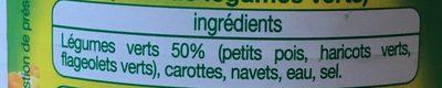Macédoine de légumes - Ingredients