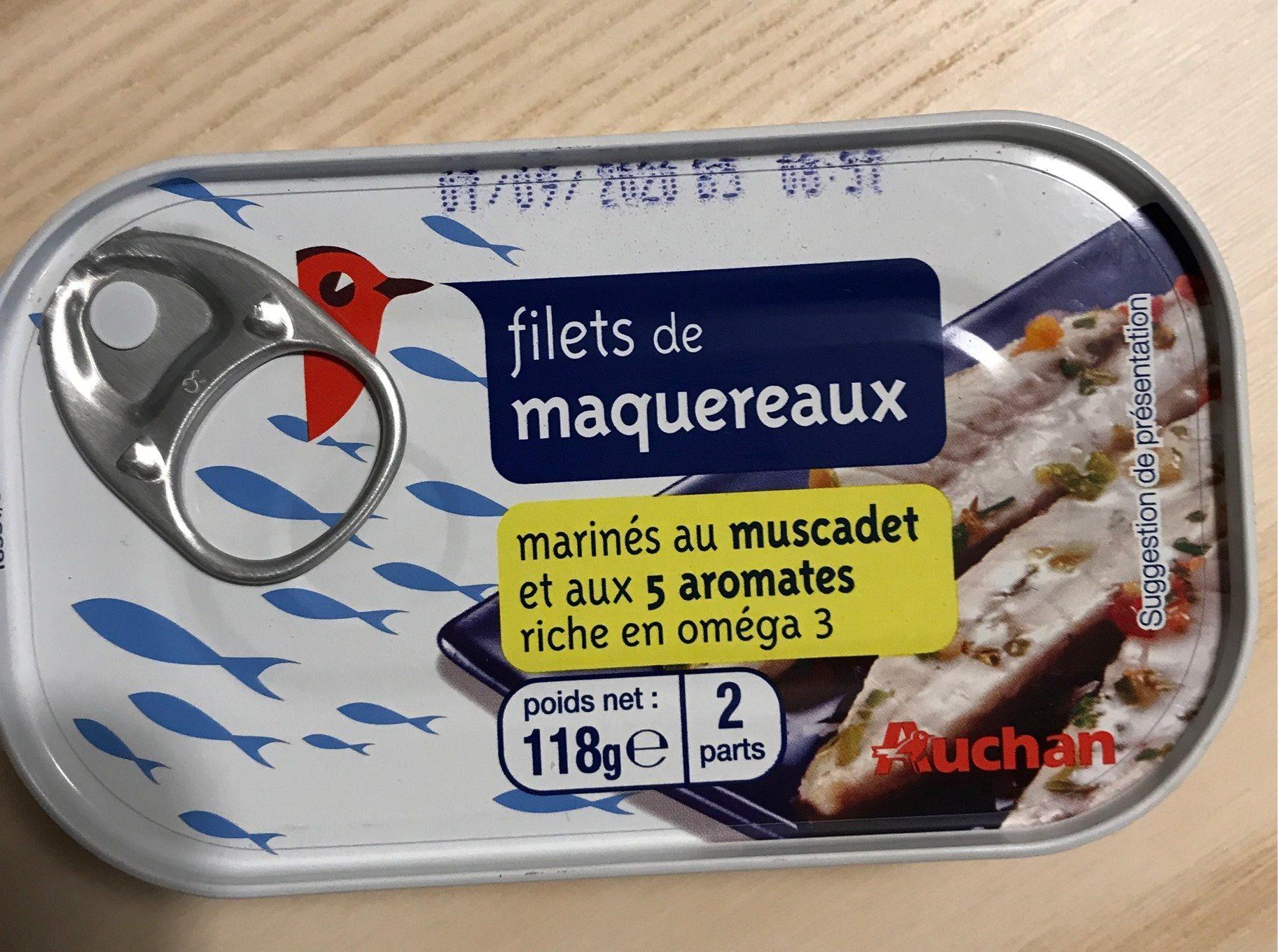 Filets de maquereaux muscadet et 5 aromates - Produit