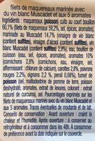Filets de maquereaux muscadet et 5 aromates - Ingrédients