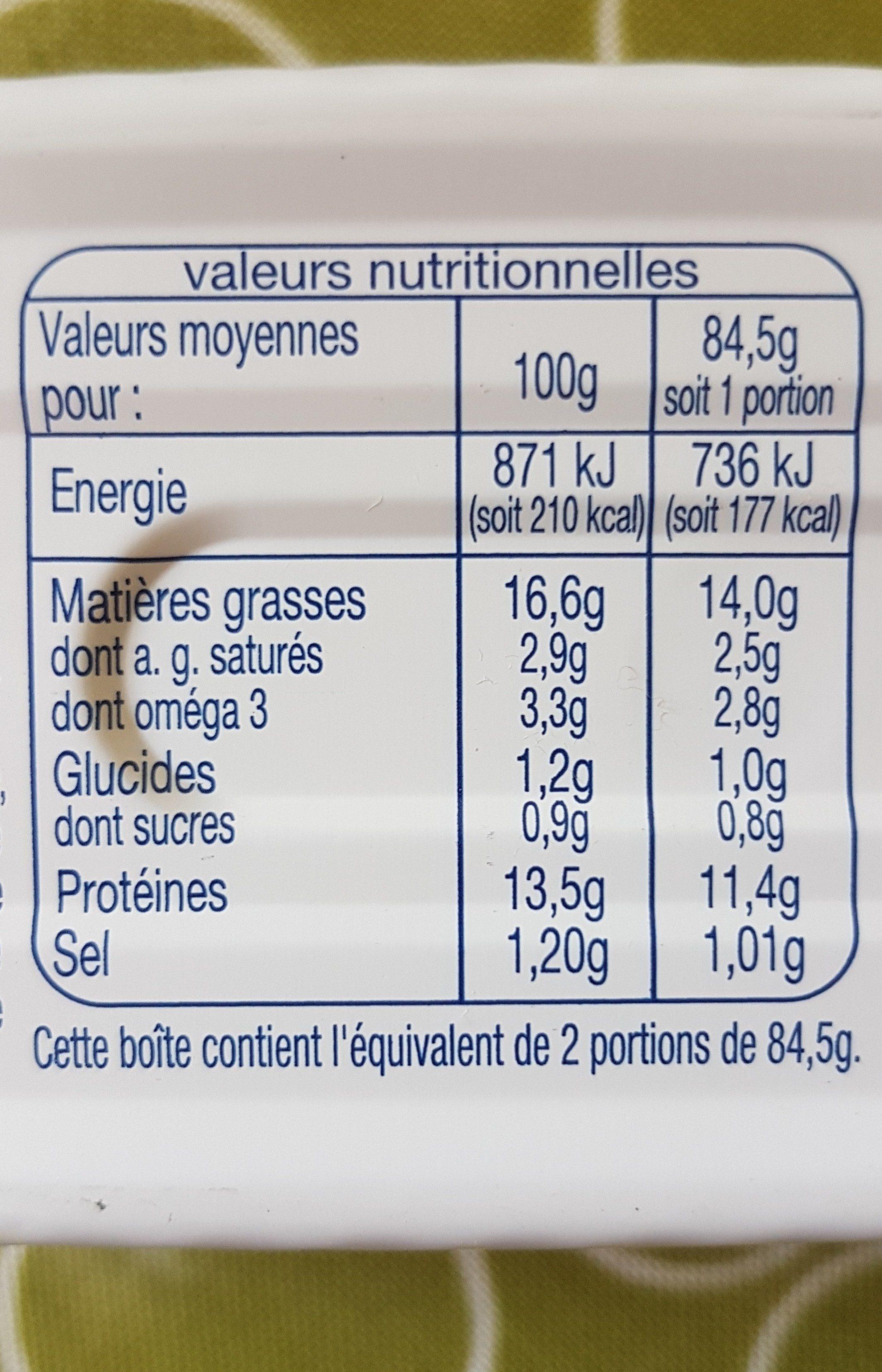 Filet De Maquereaux Sauce Mouratde A L'ancienne - Informations nutritionnelles - fr