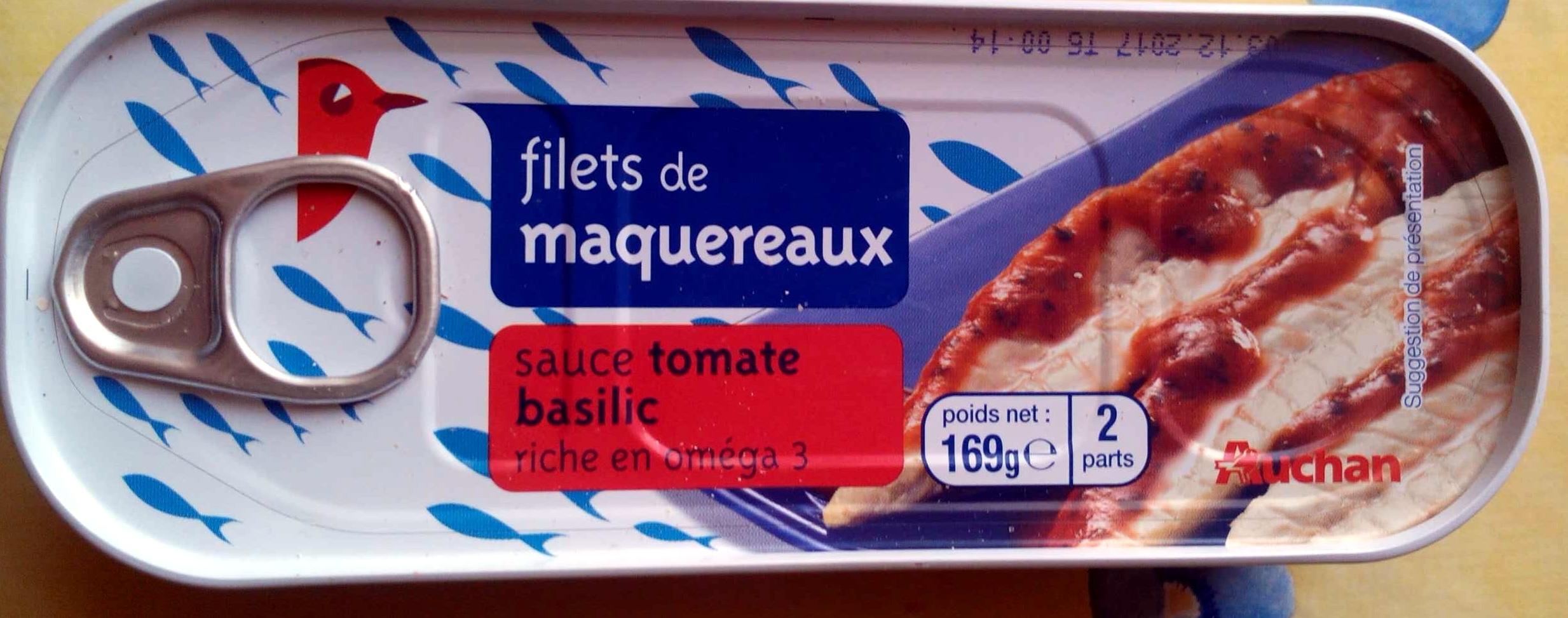 Filets de maquereaux (sauce tomate basilic) - Produit