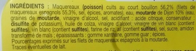 Filets de maquereaux espagnols à la moutarde - Ingrédients - fr