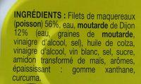 Filets de Maquereaux à la Moutarde - Ingredients