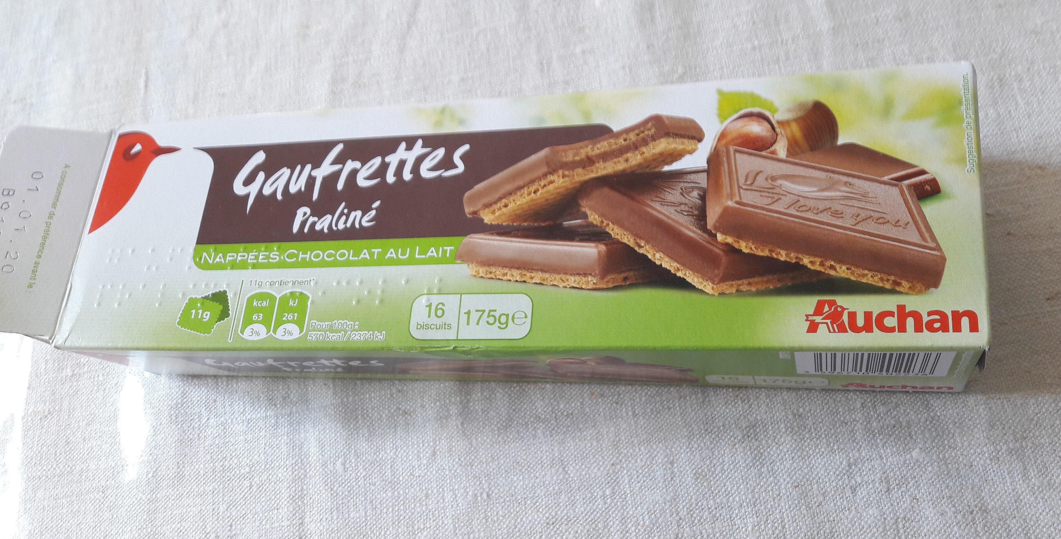 Gaufrettes praline au chocolat au lait - Product