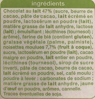 Gaufrettes praline au chocolat au lait - Ingredients