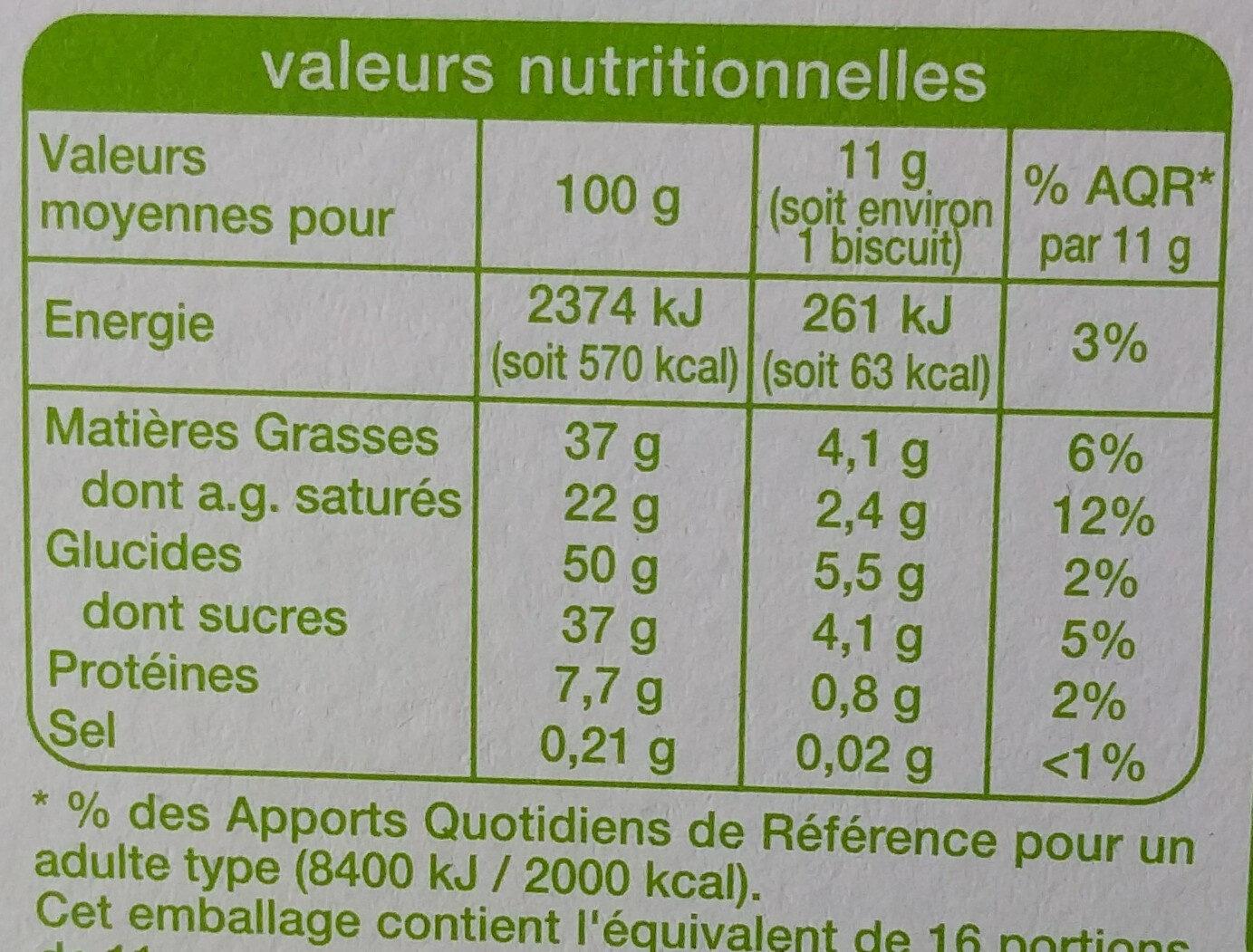 Gaufrettes praline au chocolat au lait - Nutrition facts