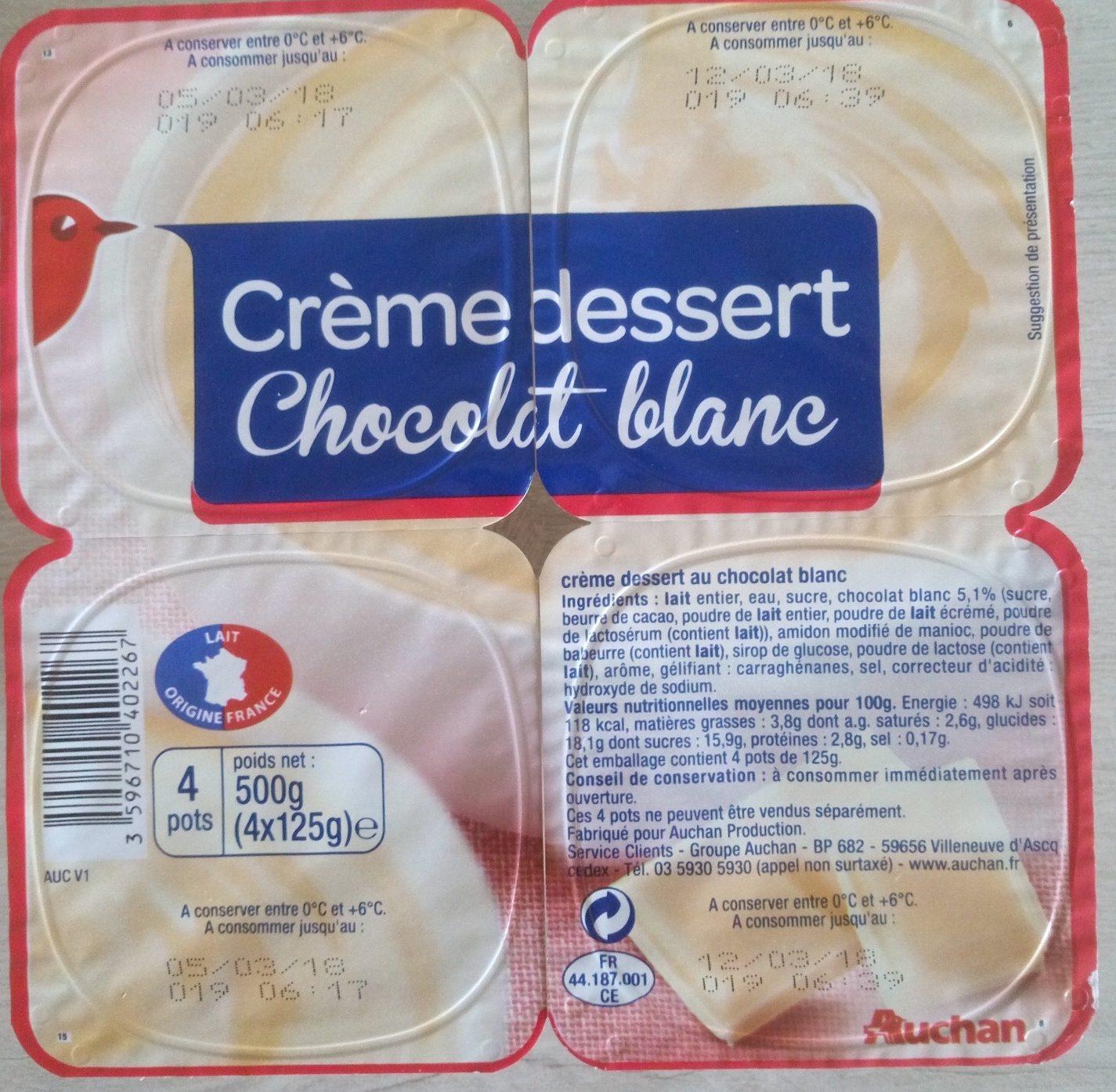 Crème dessert chocolat blanc - Product