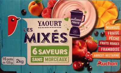 Yaourt aux fruits mixés sans morceaux (16 pots) - Product - fr