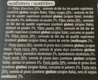 Conchiglie 5 couleurs - Ingrédients - fr