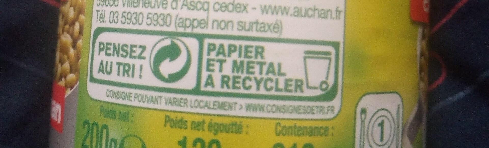 Flageolets Verts Extra Fins - Instruction de recyclage et/ou informations d'emballage - fr