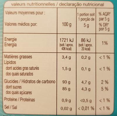 Assortiment de 6 decors - Voedingswaarden - fr