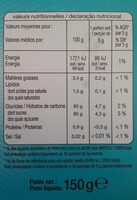 Assortiment de 6 decors - Informations nutritionnelles - fr